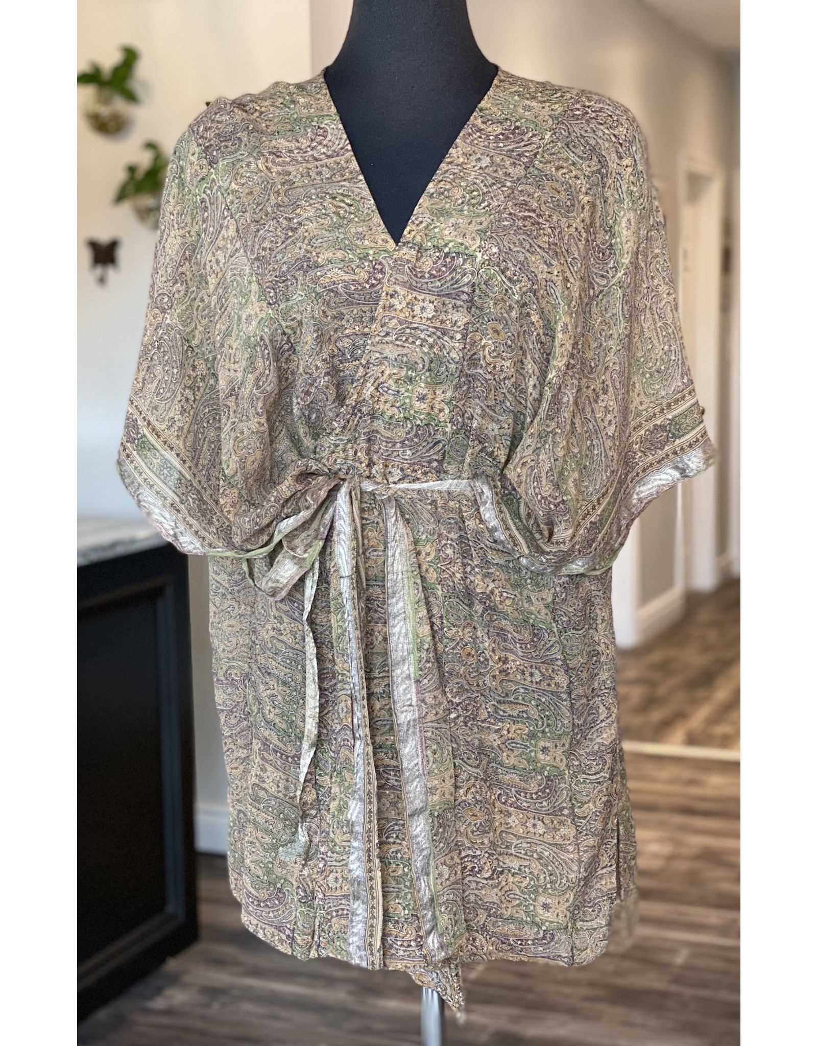 SariKNOTsari Silk Sari- Short Kimono 12