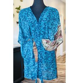 SariKNOTsari Silk Sari- Short Kimono 10