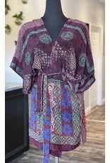 SariKNOTsari Silk Sari- Short Kimono 9