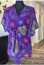 SariKNOTsari Silk Sari- Short Kimono 8