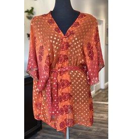 SariKNOTsari Silk Sari- Short Kimono 7