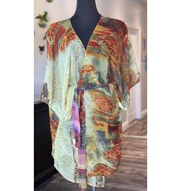 SariKNOTsari Silk Sari- Short Kimono 5
