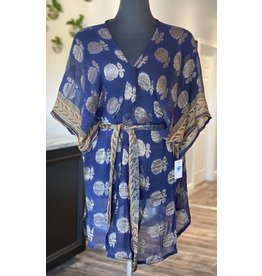 SariKNOTsari Silk Sari- Short Kimono 3