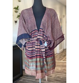 SariKNOTsari Silk Sari- Short Kimono 2