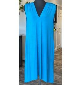 Orange- Bamboo Dress in Turquoise