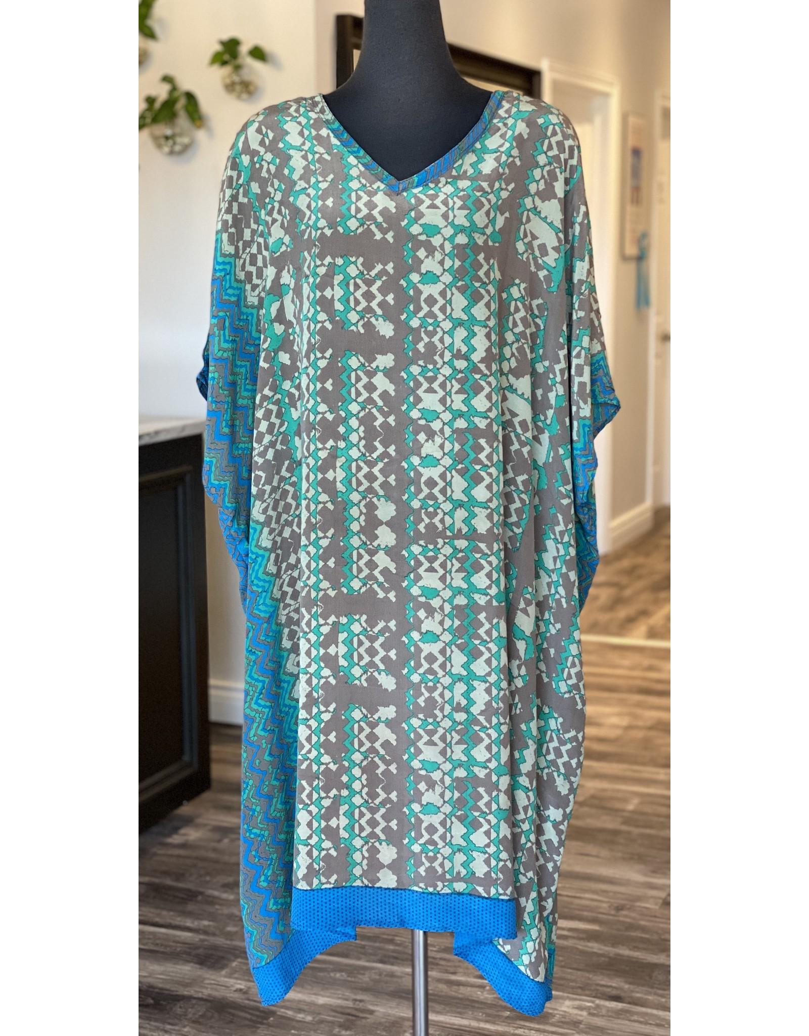 SariKNOTsari Silk Sari- Kaftan Dress- Luxe