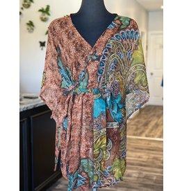 SariKNOTsari Silk Sari- Short Kimono 15