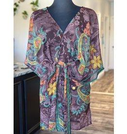SariKNOTsari Silk Sari- Short Kimono 16