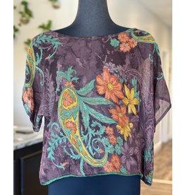 SariKNOTsari Silk sari-Boxy Top 4