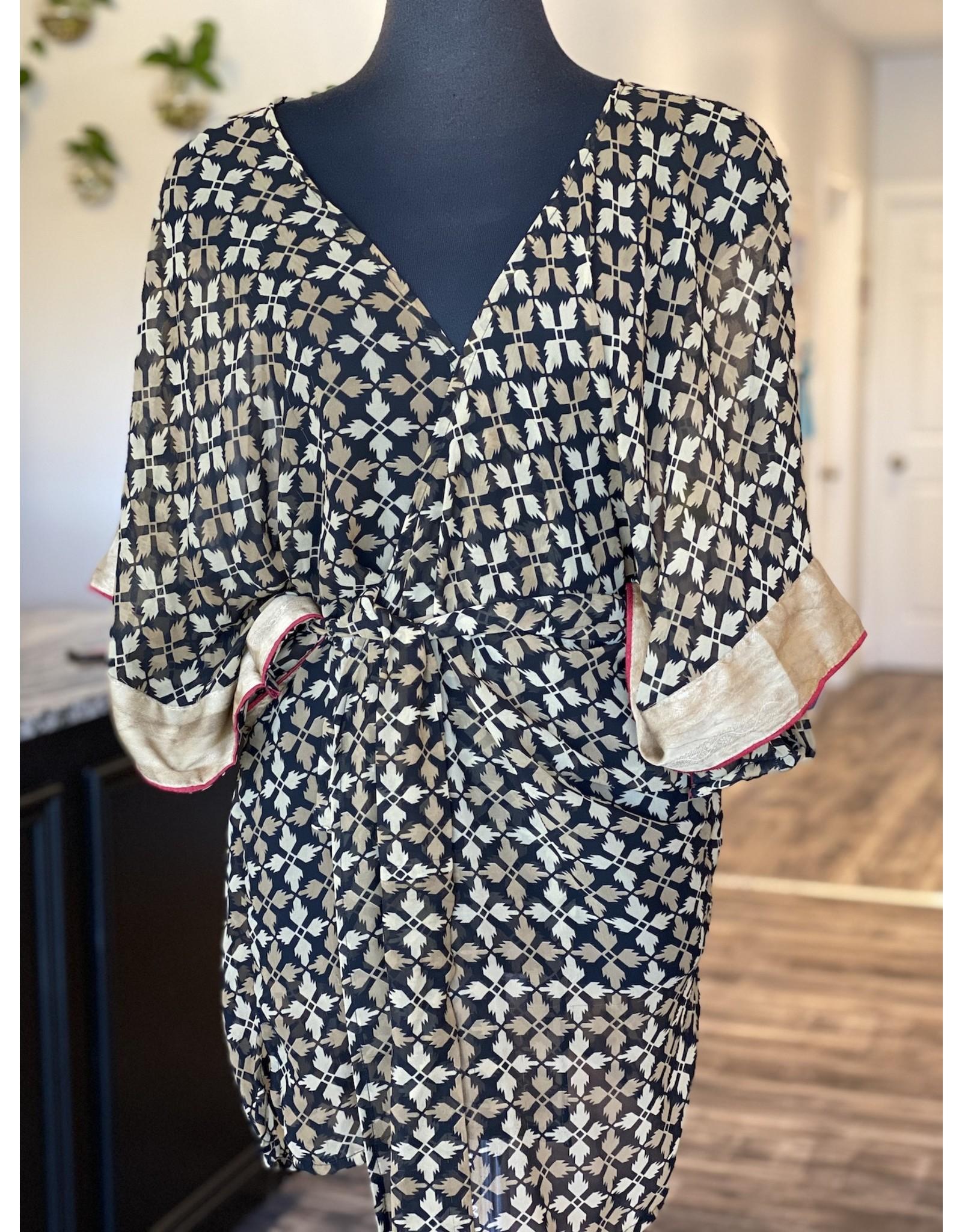 SariKNOTsari Silk Sari- Short Kimono 20