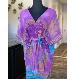 SariKNOTsari Silk Sari- Short Kimono 22