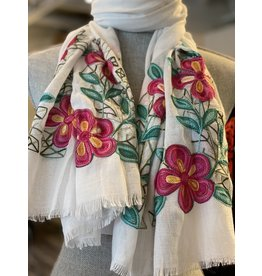 Flower Scarf Viscose - 3