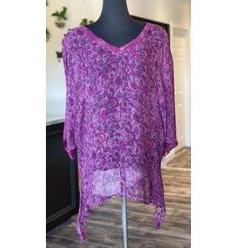 SariKNOTsari Silk Sari- Oversized Shirt 5