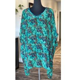 SariKNOTsari Silk Sari- Kaftan Dress- Floral