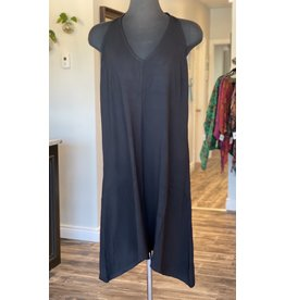 Orange - Bamboo Halter Dress in Black