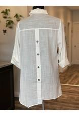 RC - Watercolour Button Tunic in White