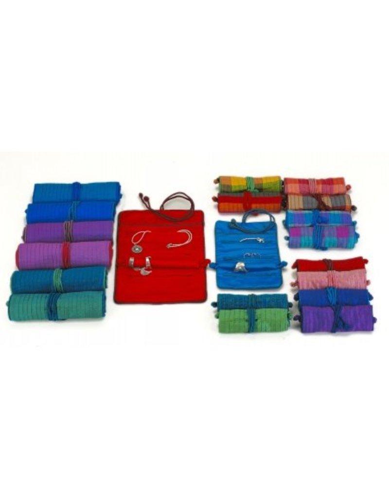 Talis- Silk jewellery roll lg
