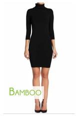 C'est Moi C'est Moi-Bamboo Turtleneck Dress