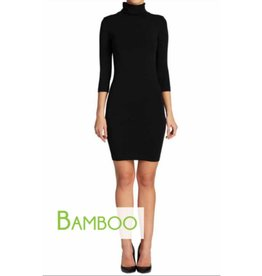C'est Moi Bamboo Turtleneck Dress