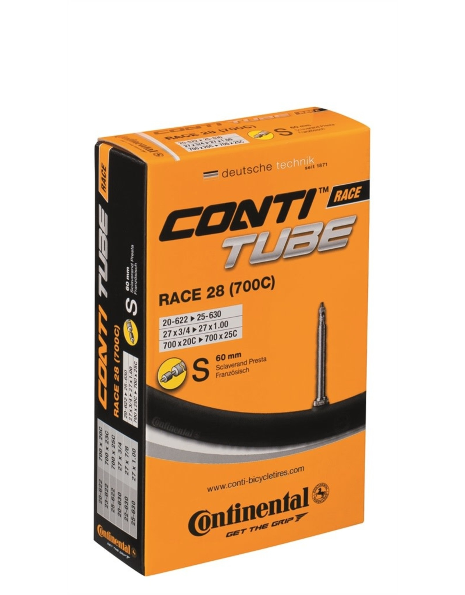 CONTINENTAL Continental Tube 700 X 18-25 - Presta Valve 60mm