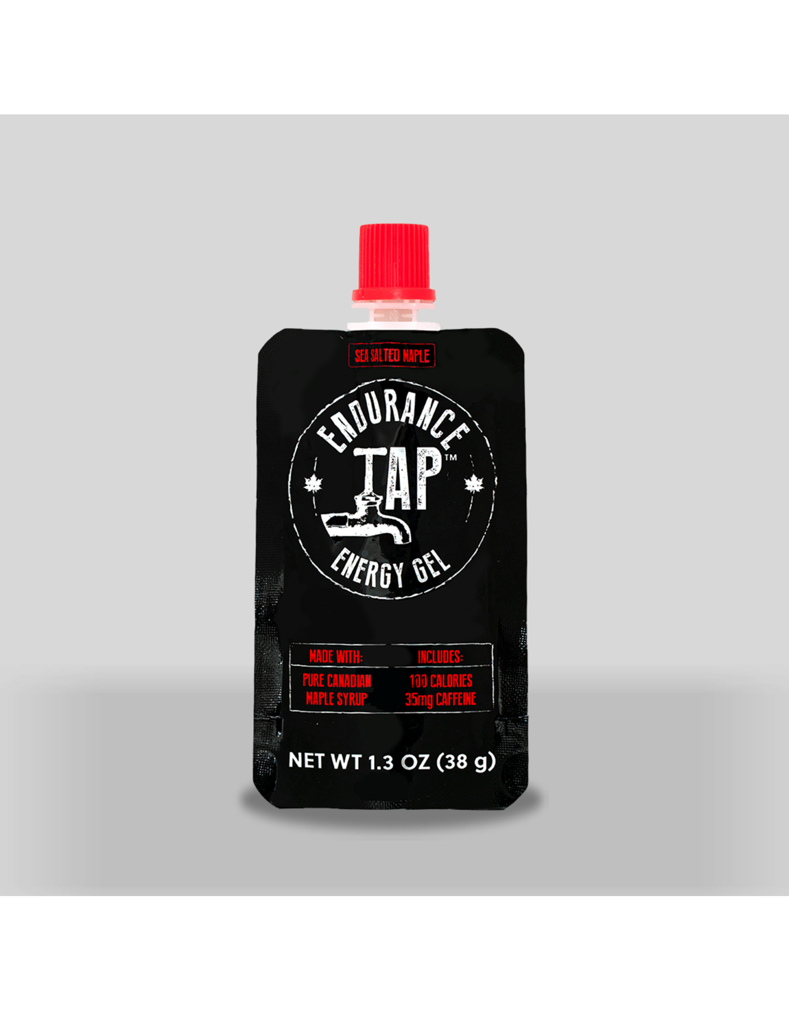 Endurance Tap - Salted Maple Syrup Energy Gel Caffeine Single 38g
