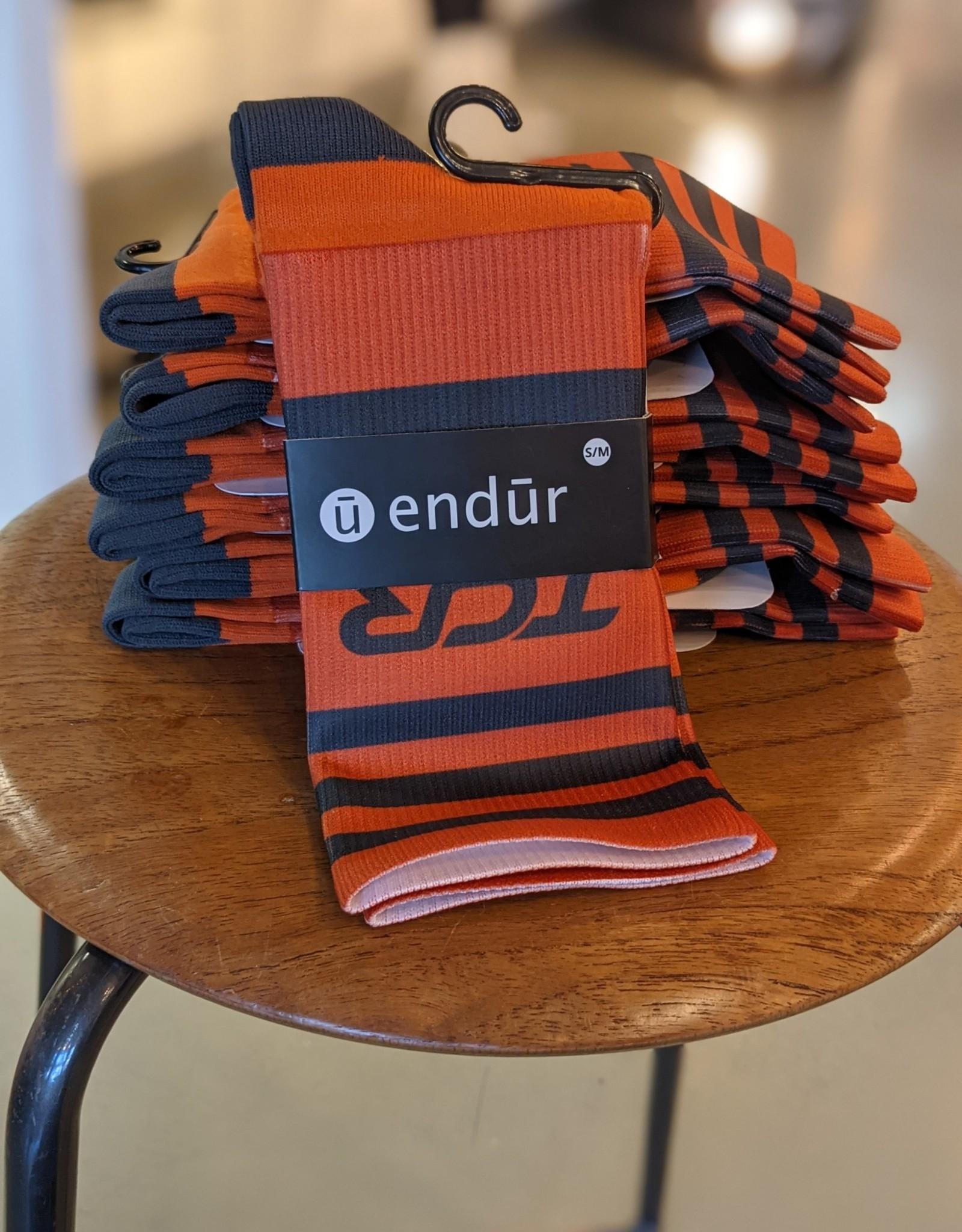 TCR Endur Knit Sock- Orange/Grey- S/M