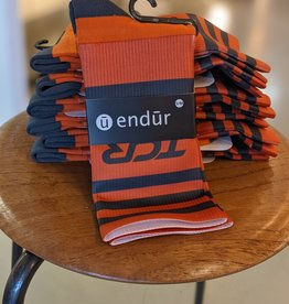 Endur - TCR Knit Sock- Orange/Grey -