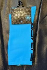 Supacaz SupaSox Straight Up SL Socks, Neon Blue (with Black), LargeXL