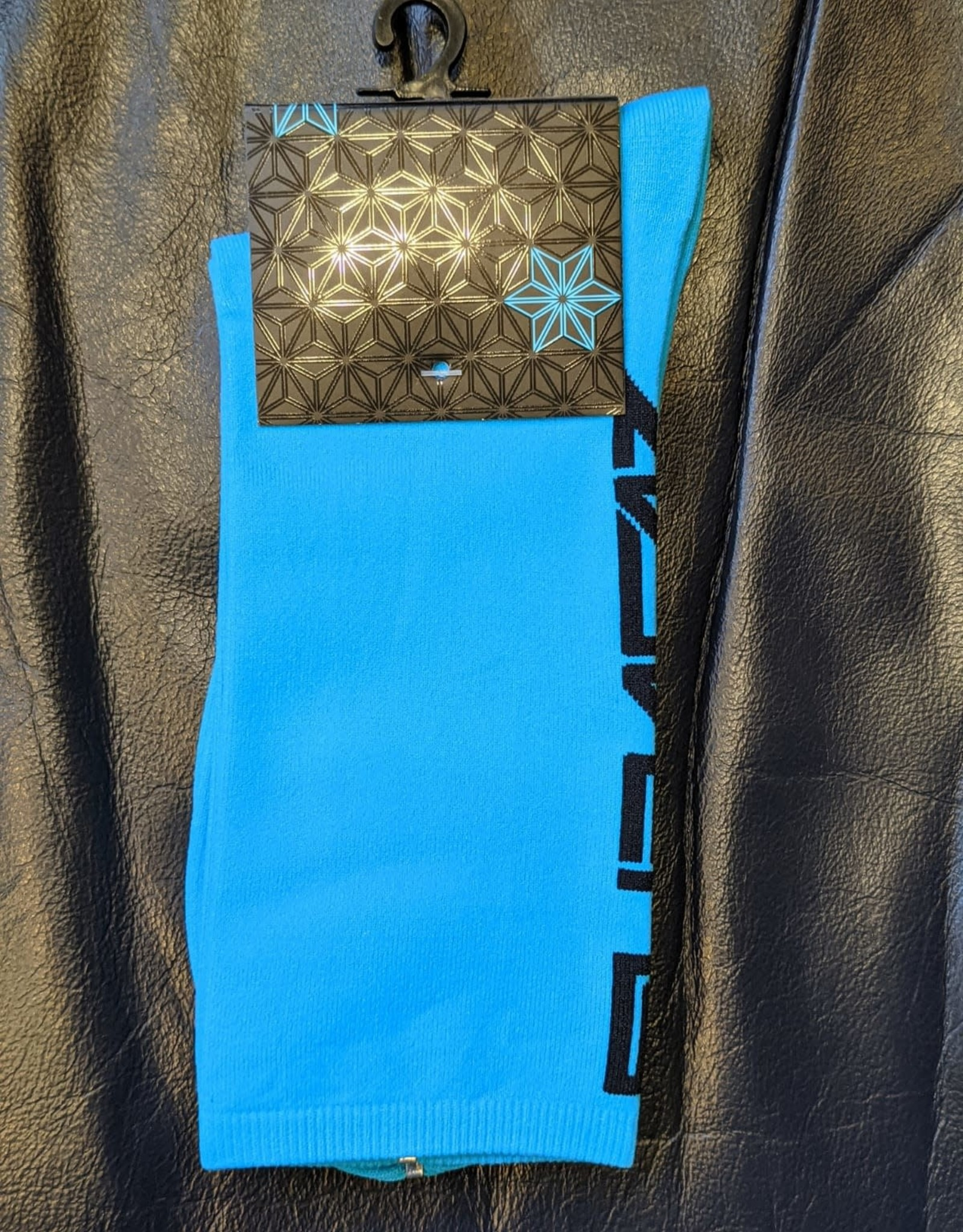 Supacaz SupaSox Straight Up SL Socks, Neon Blue (with Black), Small/Medium