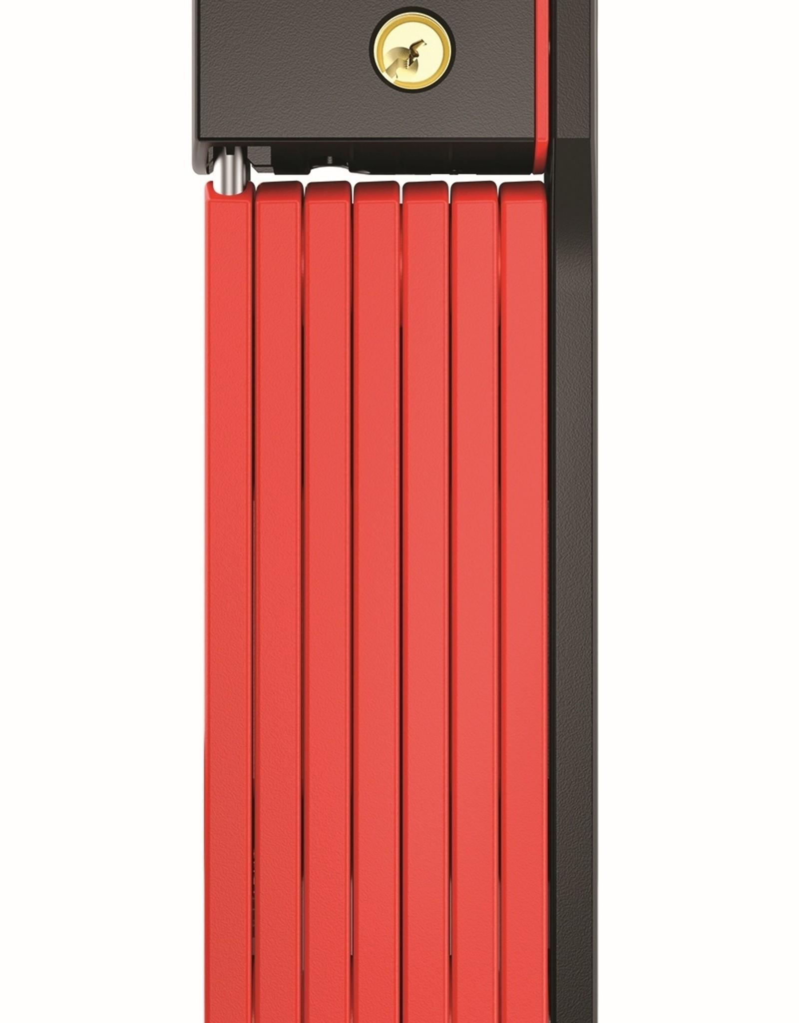 Abus, Bordo uGrip 5700 SH, Folding Lock, Key, 80cm, 2.6', 5mm, Red