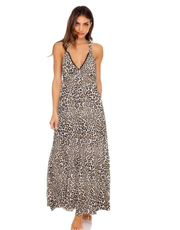 LULI FAMA L642N89 MAXI DRESS COVER UP LADIES LULI FAMA BEACHWEAR