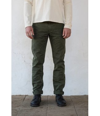 FreeNote Workers Chino Slim Straight - Army Green