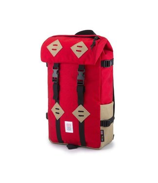 Topo Designs Klettersack - Red/ Khaki Leather