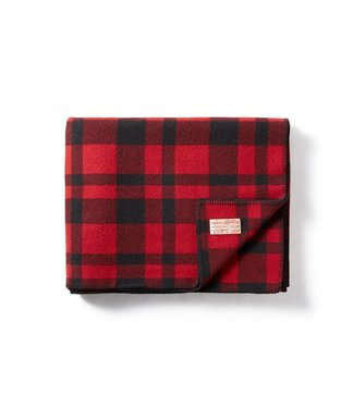 Filson Mackinaw Wool Blanket - Red/Black