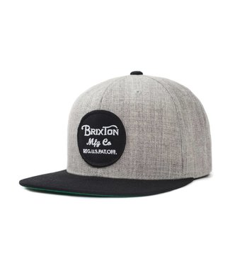 Brixton Wheeler Snapback - Grey/Black