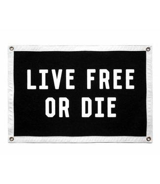 Live Free or Die Camp Flag