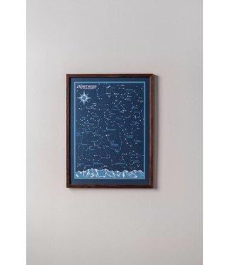 Northern Hemisphere Star Chart - 18x24