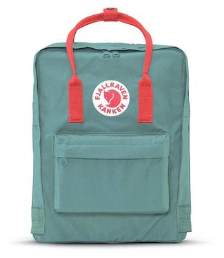 Fjallraven Kanken Bag - Frost Green / Peach