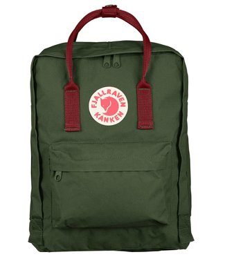 Fjallraven Kanken Bag - Forest Green / Ox Red