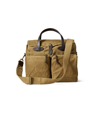 Filson 24- Hour Tin Briefcase - Dark Tan