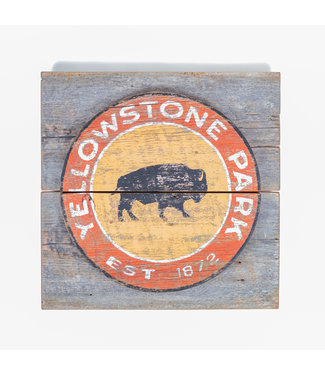 Yellowstone Park 3-D w/Bison 23x23 Sign