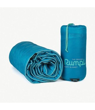 Rumpl Original Puffy Blanket - Travel Throw - Cortez Blue
