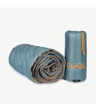 Rumpl Original Puffy Blanket - Travel Throw - Slate/Safety