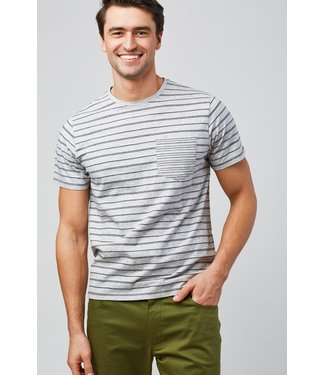 United By Blue Standard Stripe Tee - Grey