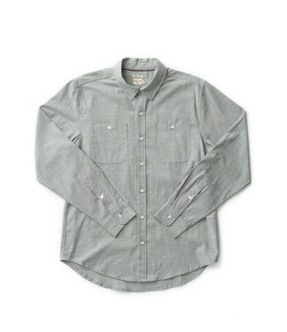 Bridge & Burn Winslow Flannel - Olive Pinstripe