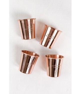 United By Blue Copper Shotglass Set