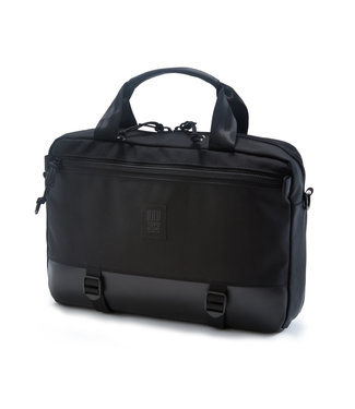Topo Designs Commuter Briefcase - Ballistic Black Leather