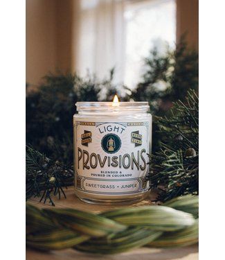 Light Provisions Sweetgrass Juniper Candle - 8 oz