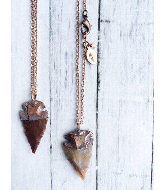 Hawk House Arrowhead Fossil Necklace