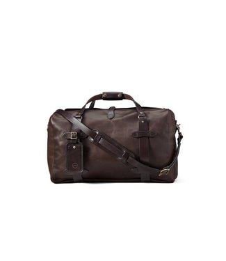 Filson Medium Weatherproof Leather Duffle - Sierra Brown